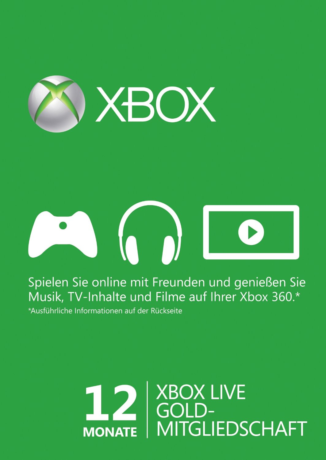 Xbox live gold 12 month membership card xbox 360 and xbox one digital