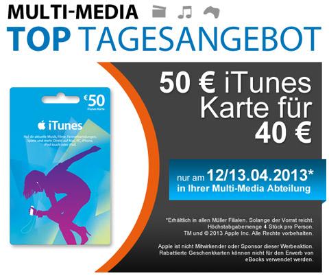 Müller iTunes Karte