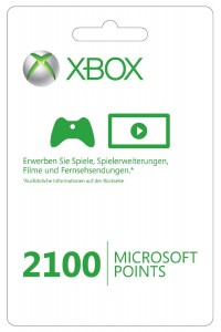 microsoft points 2100 punkte