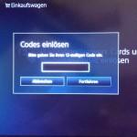 playstation code eingeben