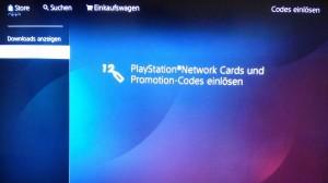 playstation codes einlösen