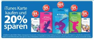 iTunes Karte Müller 20 Prozent