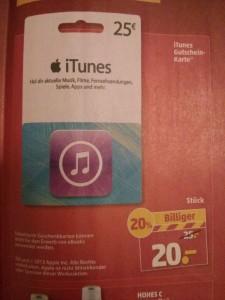 iTunes Karte Penny Aktion