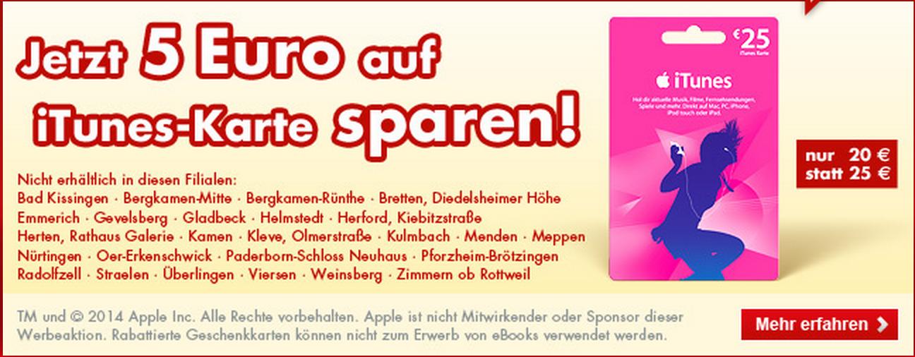 Itunes Karte 5.Kaufland Bis Zum Ende Der Woche 20 Rabatt Auf 25 Itunes Karte