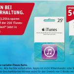 rewe itunes karte angebot 25 euro