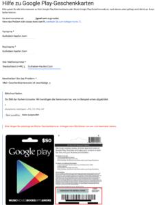 Google Play Karte nicht lesbar