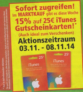 marktkauf itunes aktion november