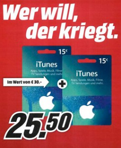 media markt itunes rabatt november